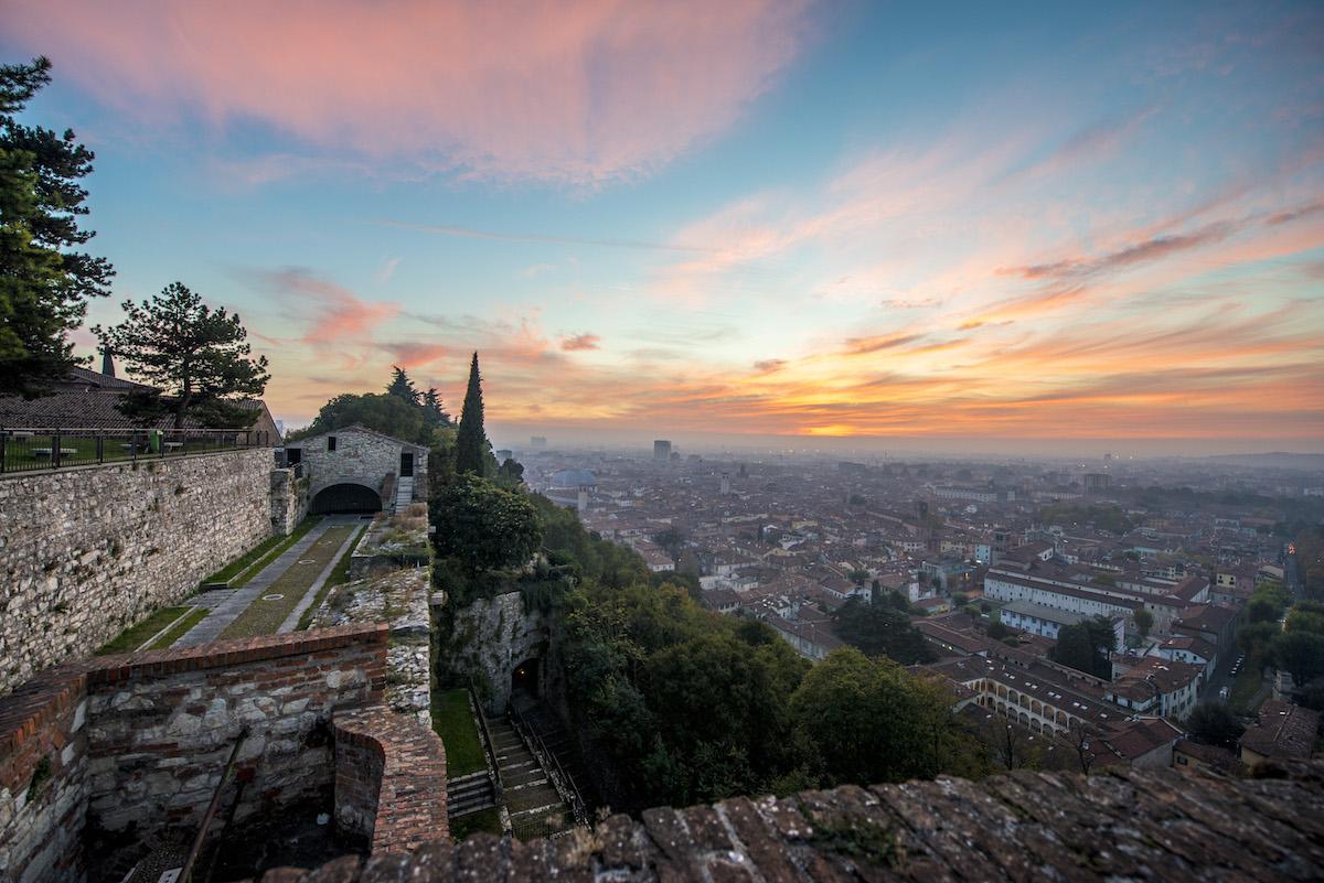 Tramonto dal Castello di Brescia