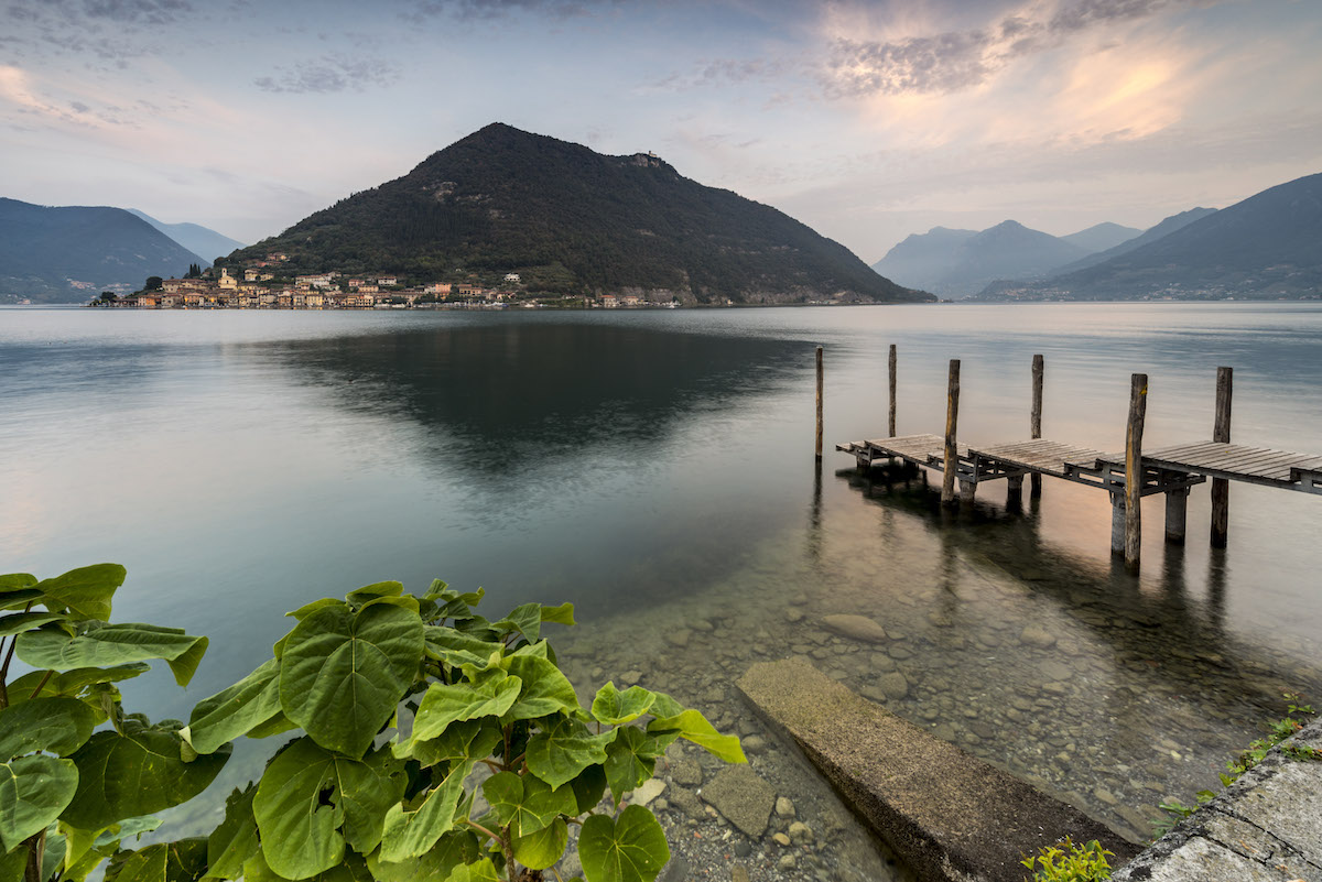 Alba a Sulzano (Lago d'Iseo)