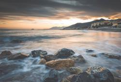 Tramonto in spiaggia a Loano