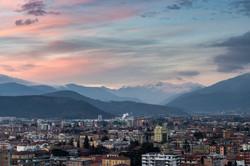 Tramonto a Brescia