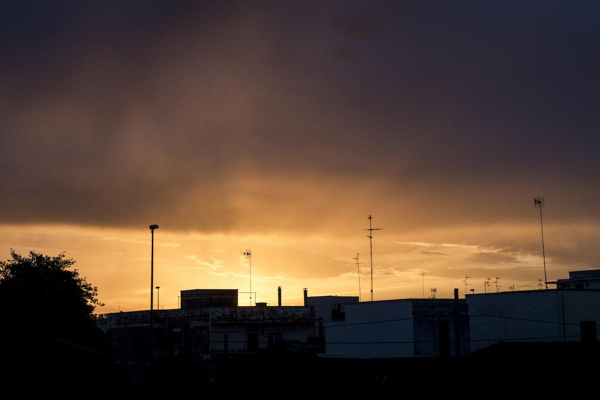 Explosion sunset