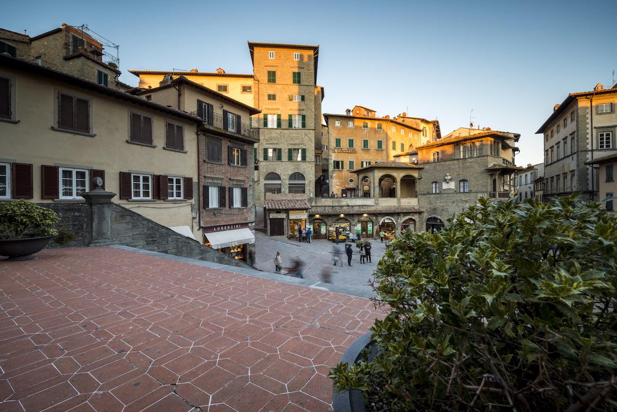 Piazza di Cortona, Toscana