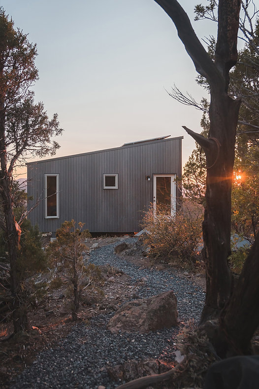 off-grid, cabin, nature living, sustainable, design, metall cladding, metall facade, minimal, minimalistic design