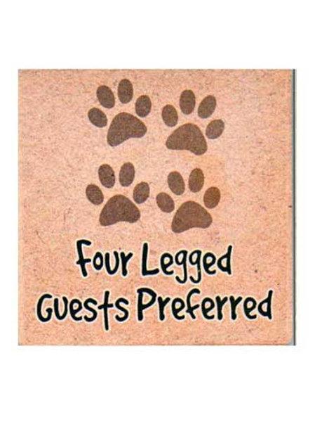 Dog Speak Coaster-4 Legged