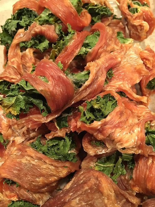 Dehydrated Chicken & Kale Wraps