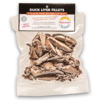 Fresh is Best Freeze Dried Duck Liver Filets-3.5oz