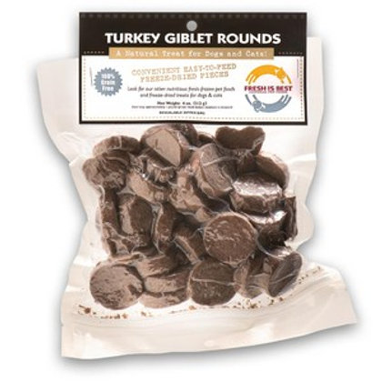 Fresh is Best Freeze Dried Turkey Giblet Rounds-3.5oz