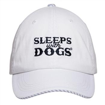 Barkology Hat-Sleep With Dogs-White