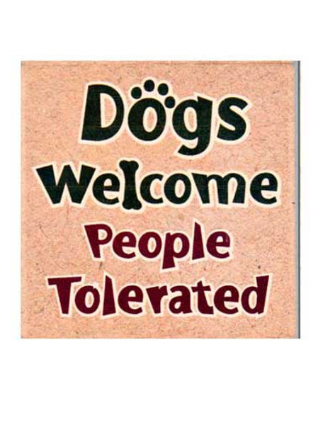 Dog Speak-Dogs Welcome Coaster