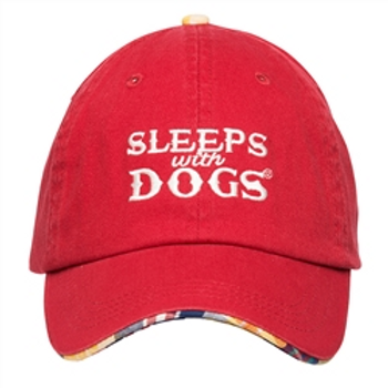 Barkology Hat-Sleep with Dogs-Red