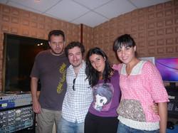 Rosa López, Tony Peña y Virgi