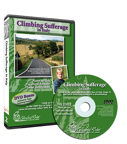 Global Ride: Climbing Sufferage in Italy Virtual Cycling DVD