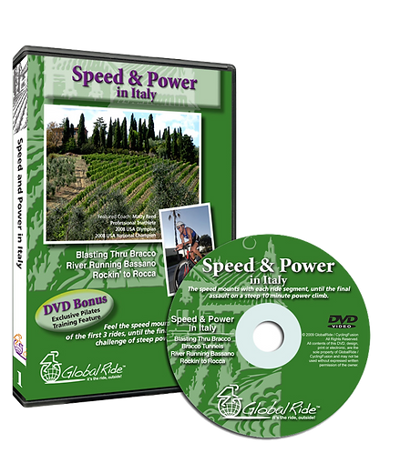 Global Ride: Speed & Power in Italy Virtual Cycling DVD