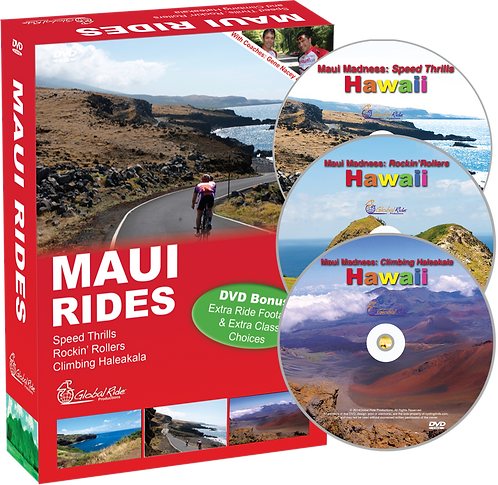 MAUI RIDES - Boxed Set of DVDs from Maui, Hawaii