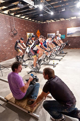 Professional filming of indoor cycling classes