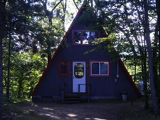 Outside view of A-Frame Chalet