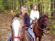 Kids riding big horses