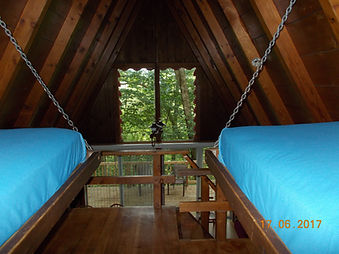 looking down from loft in Chalet