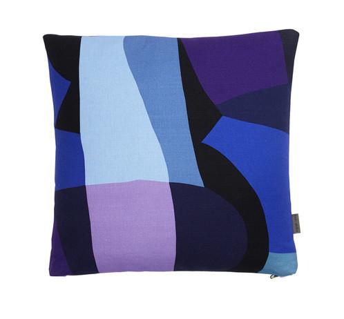 Blue Cushion 43x43 Cm Tekstil Design Danmark Mon Atelier