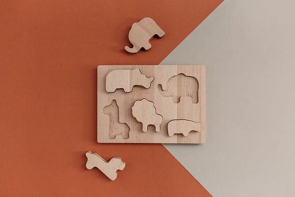 Wild Wooden Puzzle