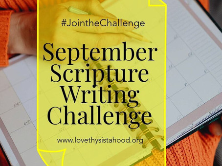 September Scripture Writing Challenge