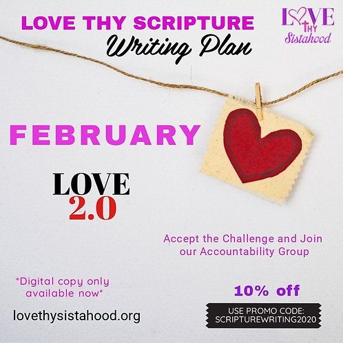 February Love Thy Scripture Writing Plan: Love 2.0