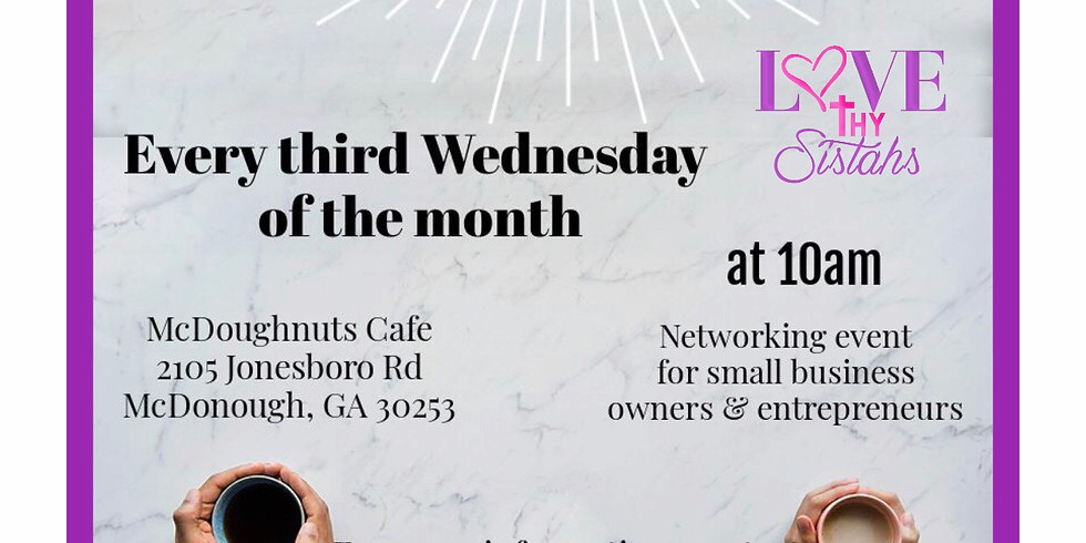 Monthly Coffee & Connect  @McDoughnuts Cafe
