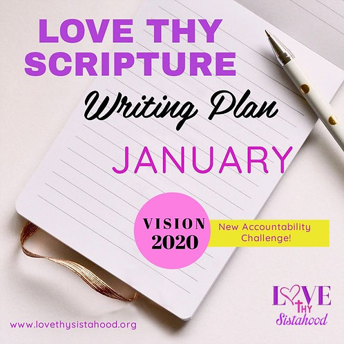 January Love Thy Scripture Writing Plan