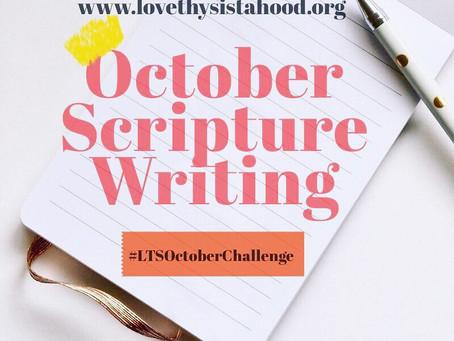 October's Scripture Writing Challenge
