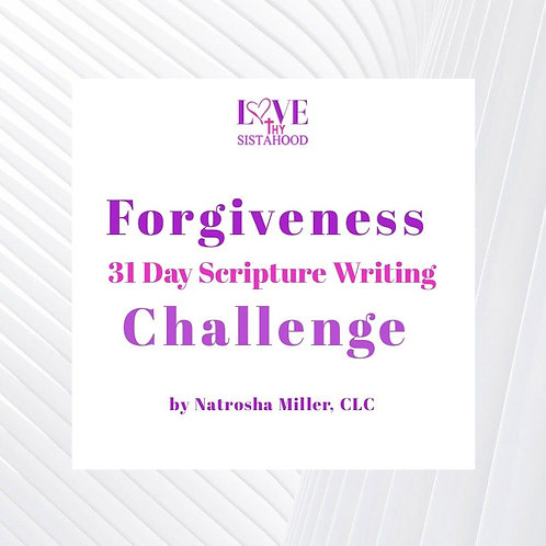 31 Day Scripture Writing Plan: Forgiveness