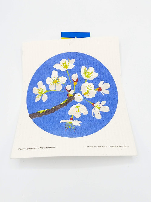 Cherry Blossom Swedish Dish Cloth