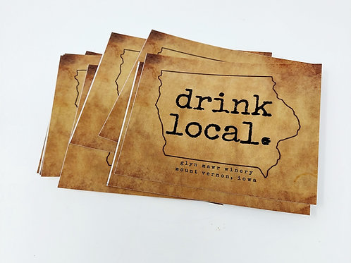 Vintage Drink Local Postcard