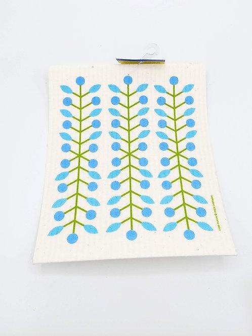 Blue Bud Swedish Dish Cloth