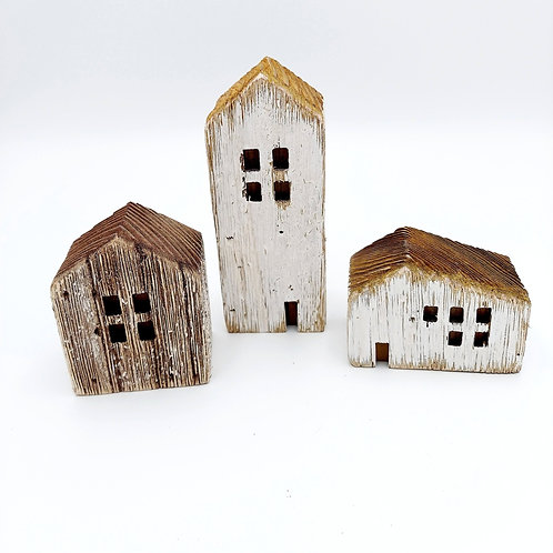 Set of 3 Rustic House Sitters