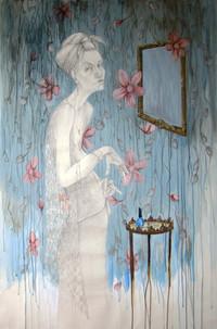 Irma in her boudoir