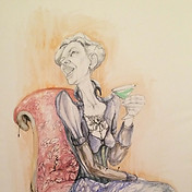 Sitting in the armchair/study