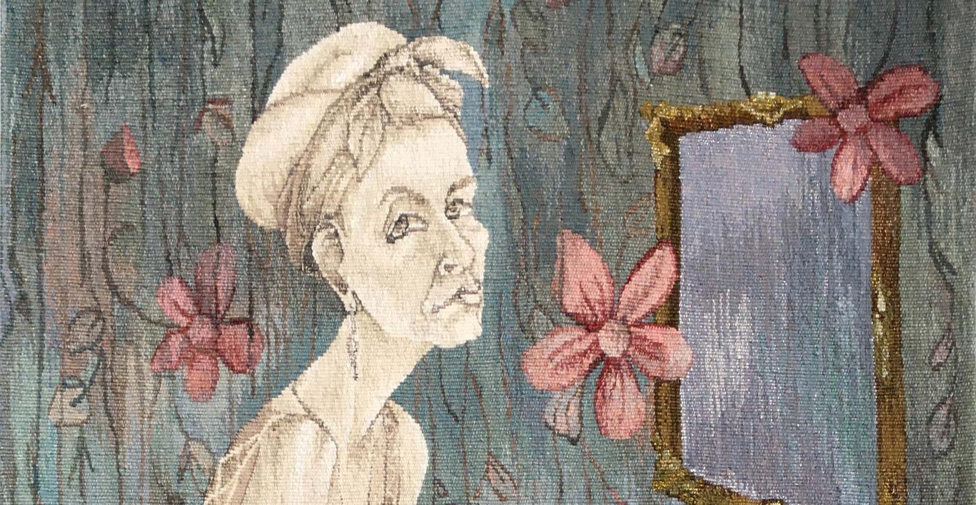Irma in her Boudoire-tapestry 1