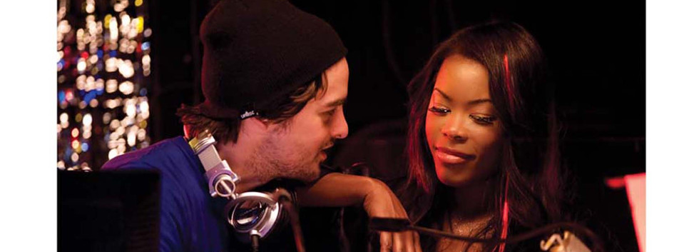 Vincent Piazza and Golen Brown in Polish Bar