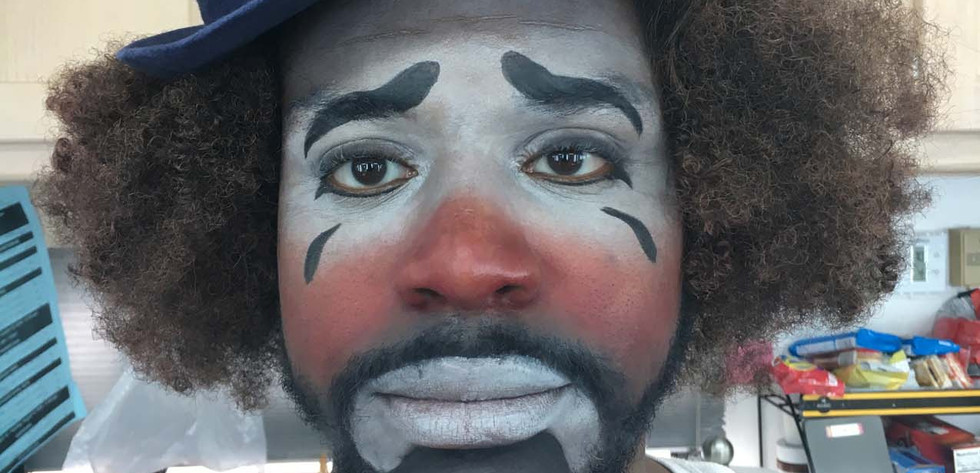 Clown makeup for South Side, Comedy Central