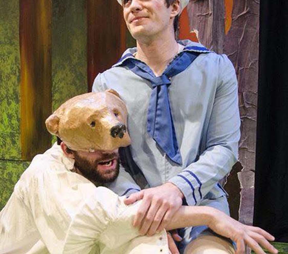 Trap Door Theater, paper mache bear head