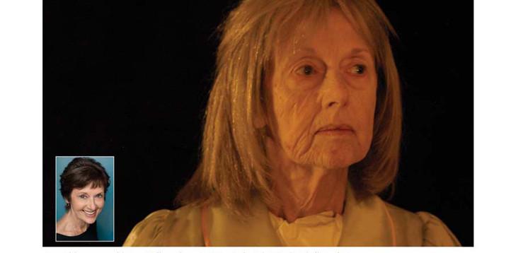 Jane Alderman in age stipple makeup, Man in the Silo