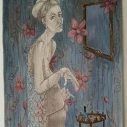 Irma in her boudouir- tapestry