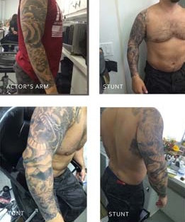 Death Wish Tattoo fabrication to copy actor's real tattoo