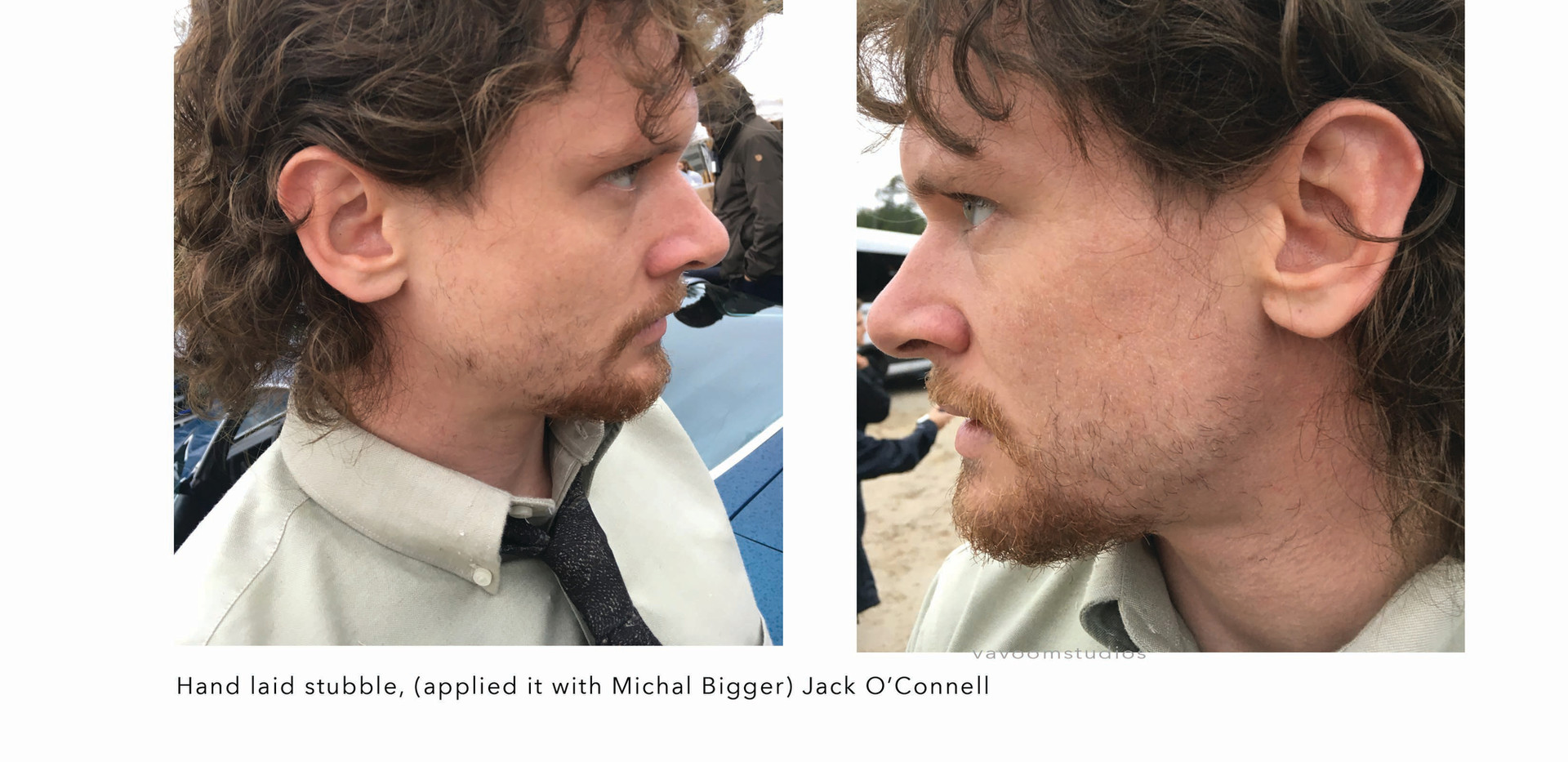 Jack O'Connel, Trial by Fire hand laid stubble with Michal Bigger