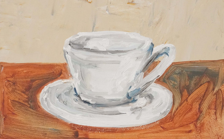 Study White Cup