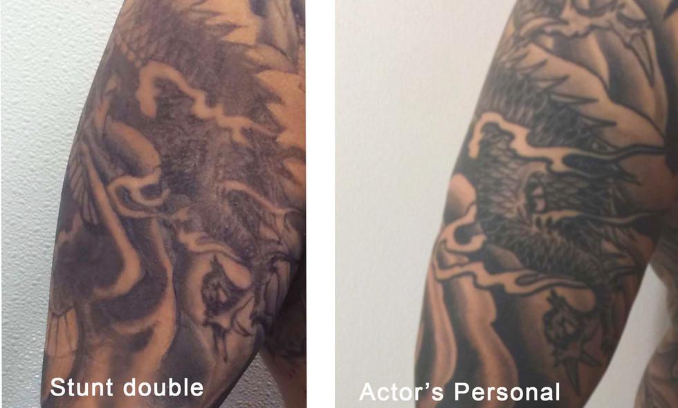 Death Wish, Stunt double of Actor's original tattoo