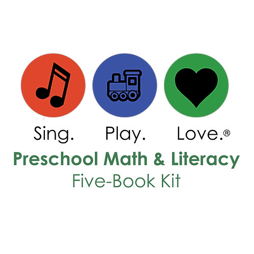 PRESCHOOL MATH AND LITERACY five-book set with songs and movies