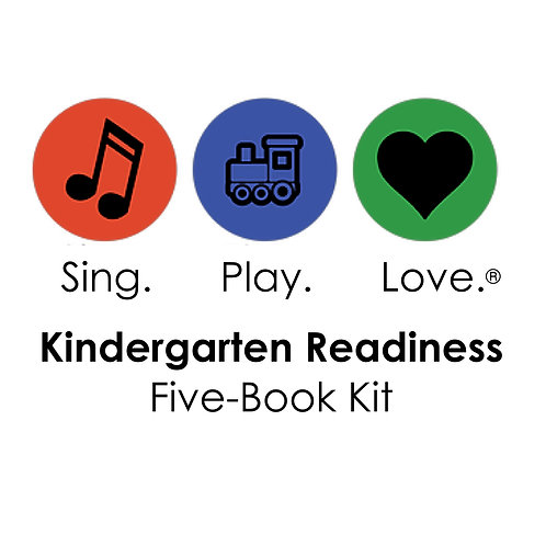 KINDERGARTEN READINESS five-book set with songs and movies