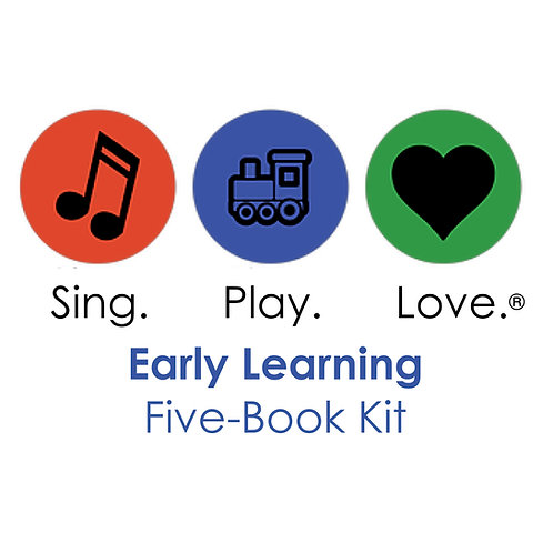 EARLY LEARNING five-book set with songs and movies