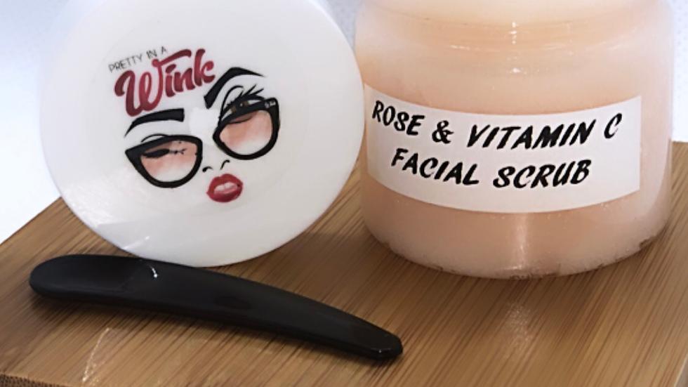 Rose and Vitamin C Facial Scrub